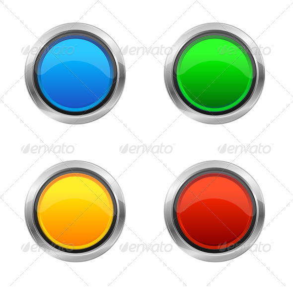 Vector Design Elements Round Buttons