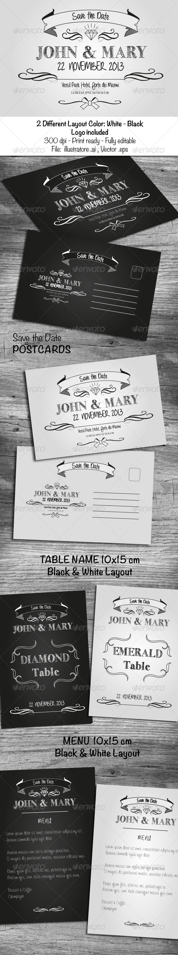 Black & White Wedding Cards