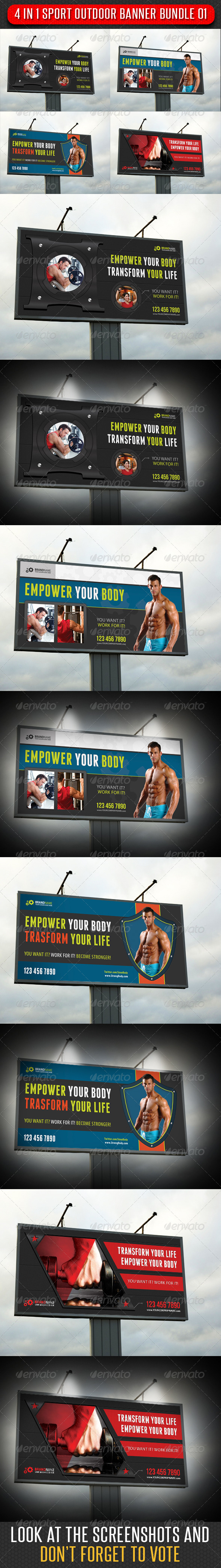GraphicRiver 4 in 1 Sport Outdoor Banner Bundle 01 6082715