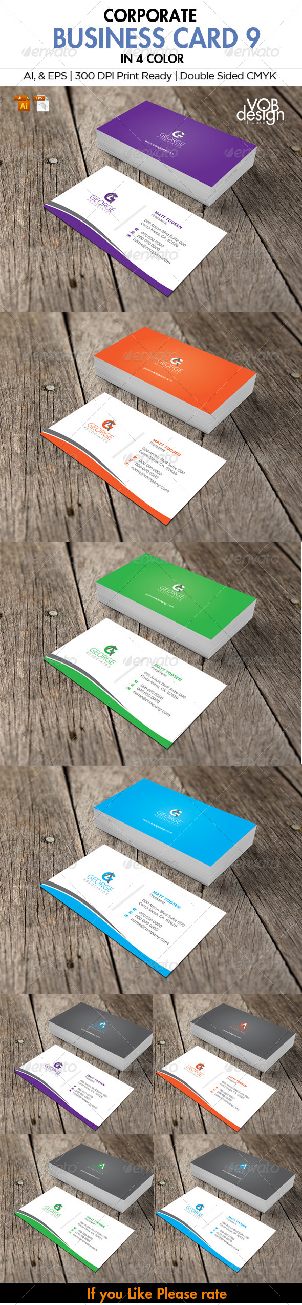 GraphicRiver Corporate Business Card 9 6082720