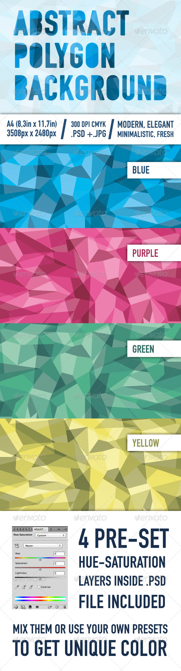 GraphicRiver Abstract Polygon Background 6082730