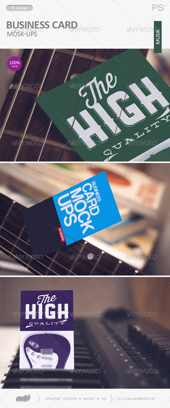 GraphicRiver Business card Mock-Ups musik 6082731