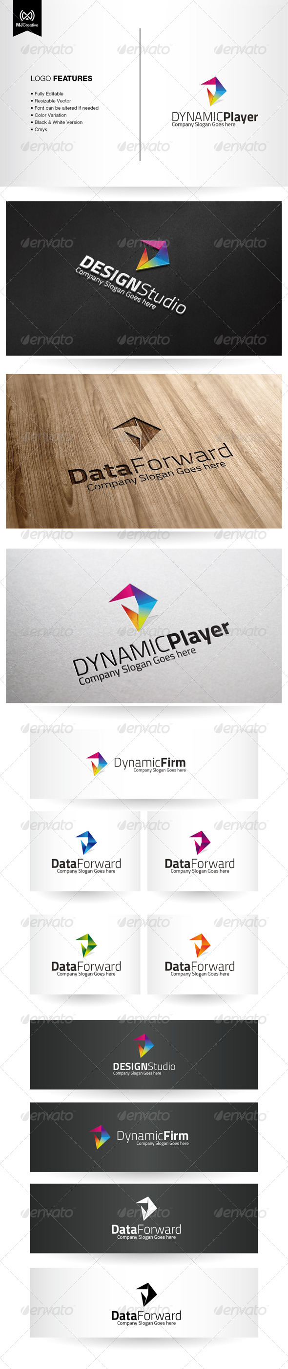 GraphicRiver Abstract D and Play Forward Logo 6082733