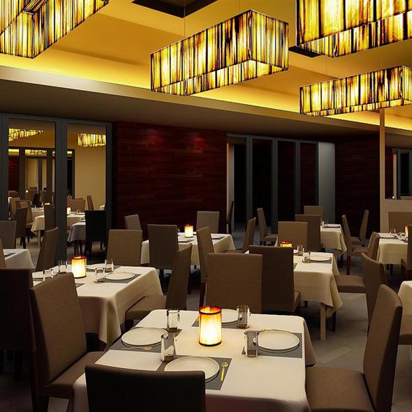 3DOcean Realistic Restaurant Interior 3D Scene 602402