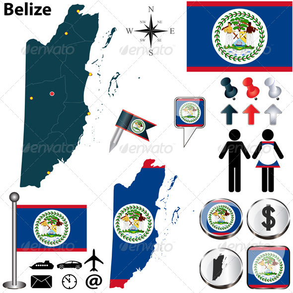 GraphicRiver Map of Belize 5923540