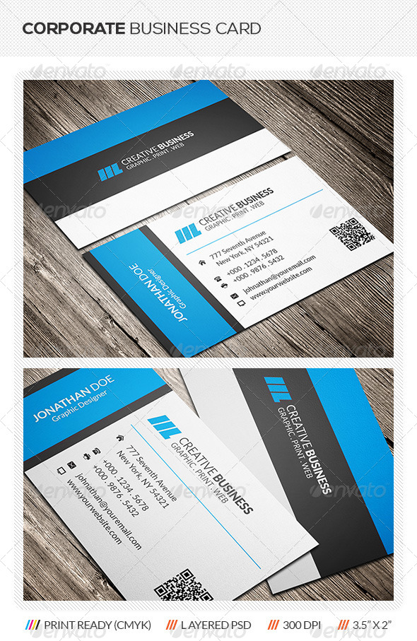 GraphicRiver Corporate Business Card 6083998