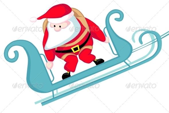 GraphicRiver Santa Skydiving 6084116