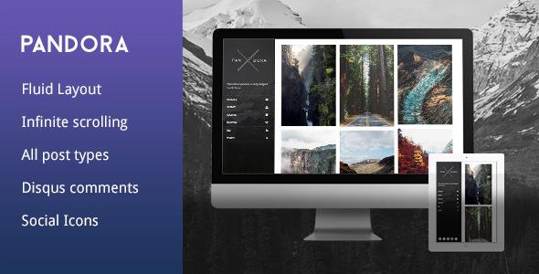 Pandora – Sidebar Tumblr Theme (Tumblr) Download