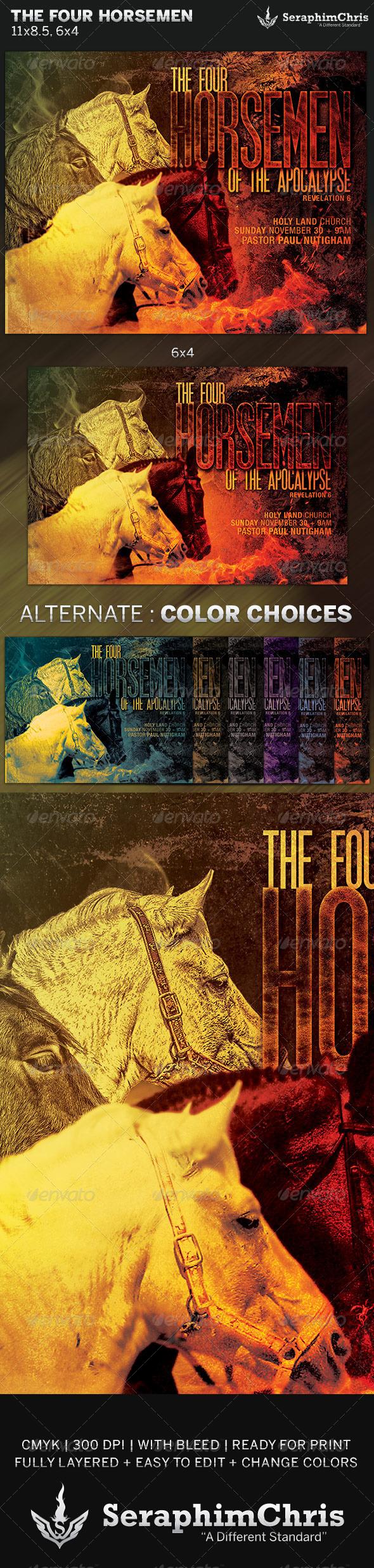 The Four Horsemen Church Flyer Template
