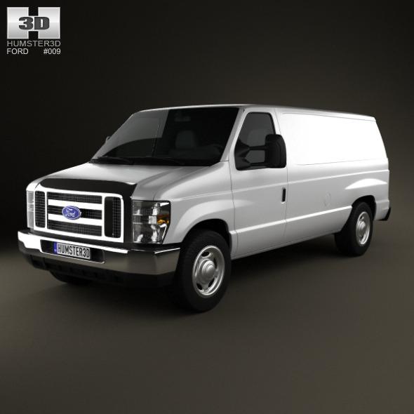 3DOcean Ford E-series Van 2011 635362