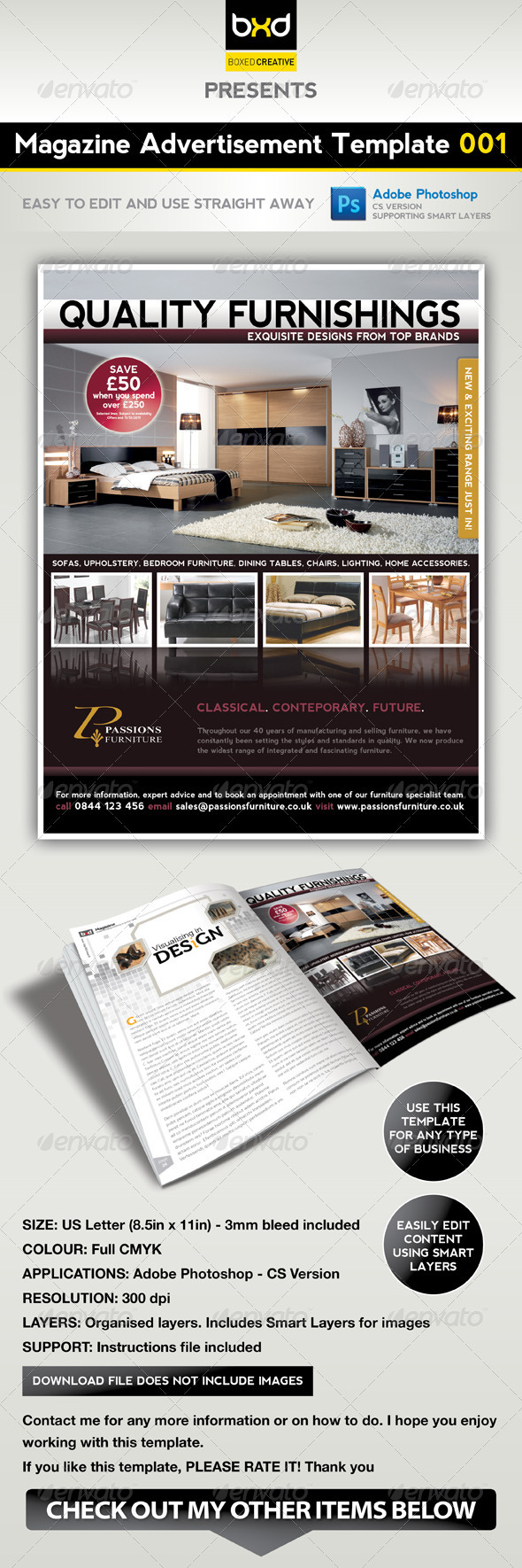 Magazine Advert Template 001 - Corporate Flyers