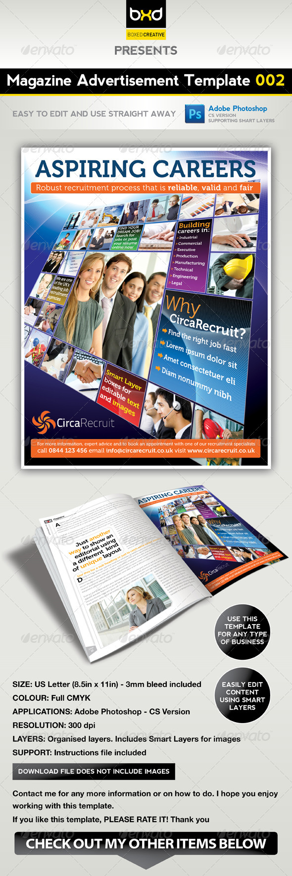 Magazine Advert Template 002 - Corporate Flyers