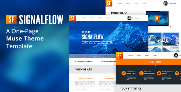 SignalFlow - One Page Muse Template