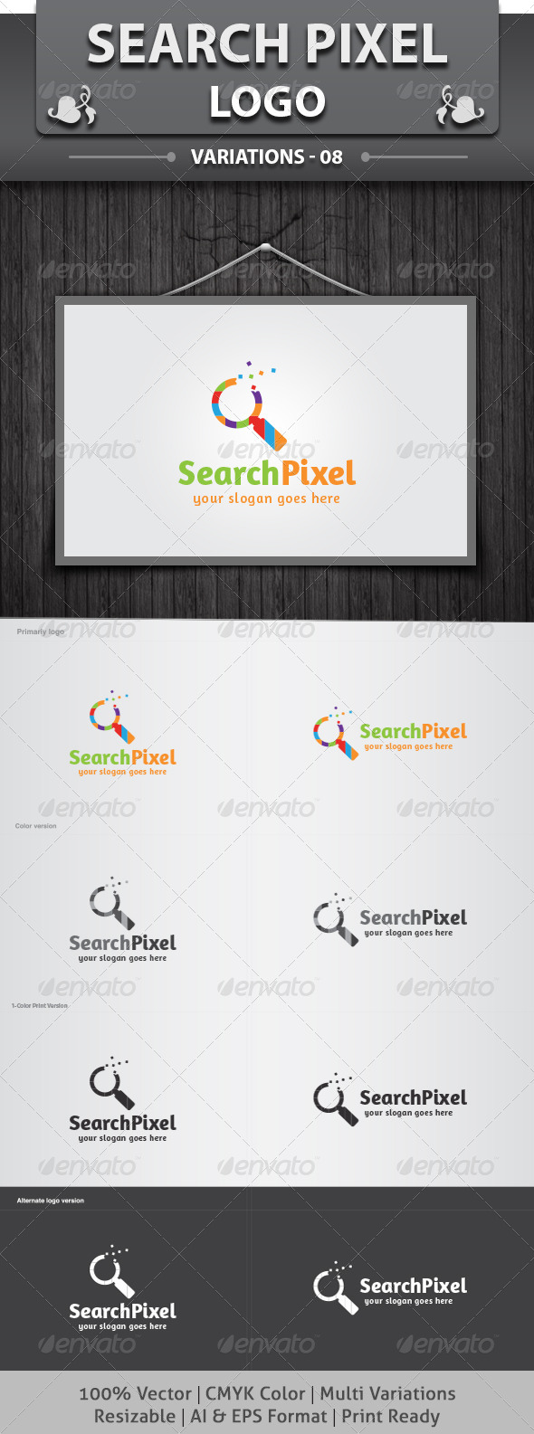 Search Pixel Logo - Objects Logo Templates