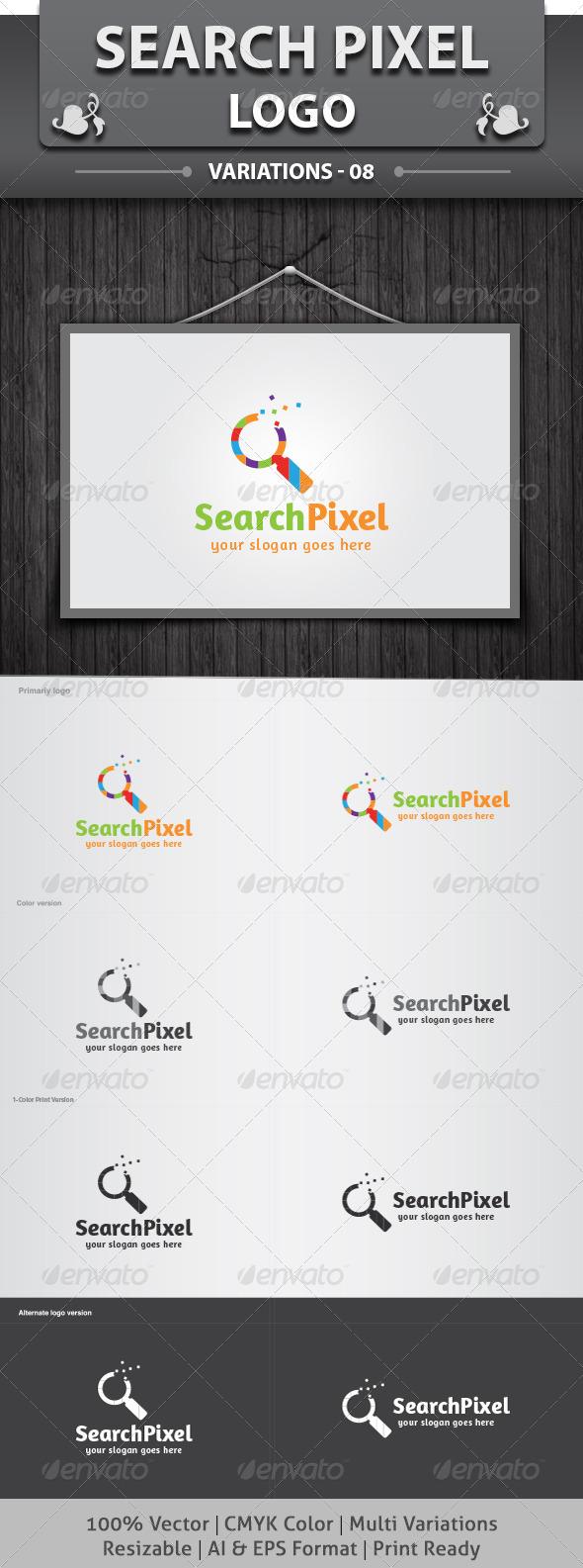 GraphicRiver Search Pixel Logo 6084515