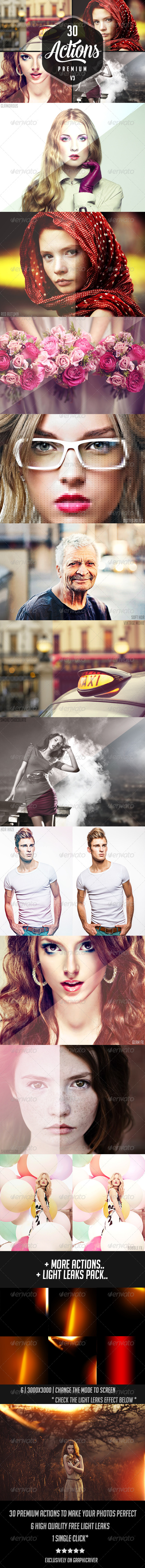 30 Premium Photoshop Actions 3  - Photo Effects Actions