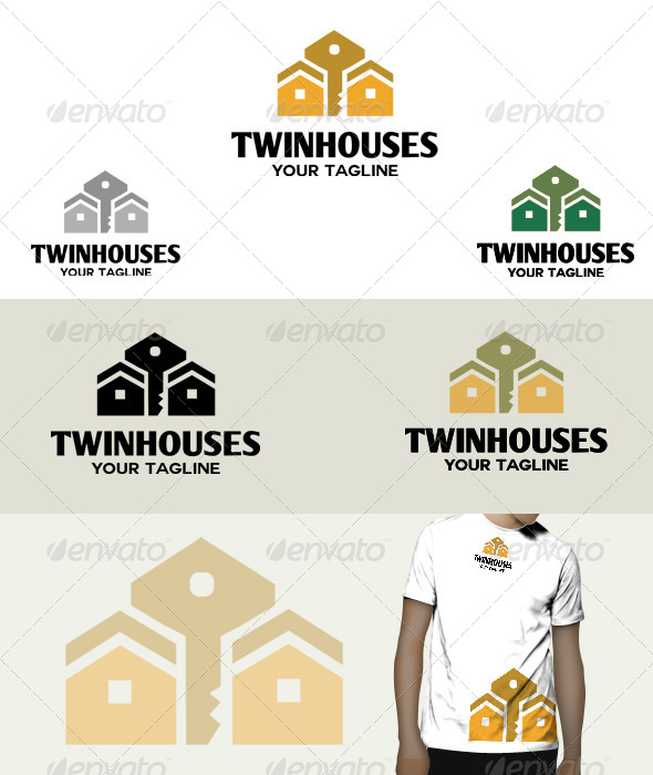 GraphicRiver Twin Houses Logo 6084660