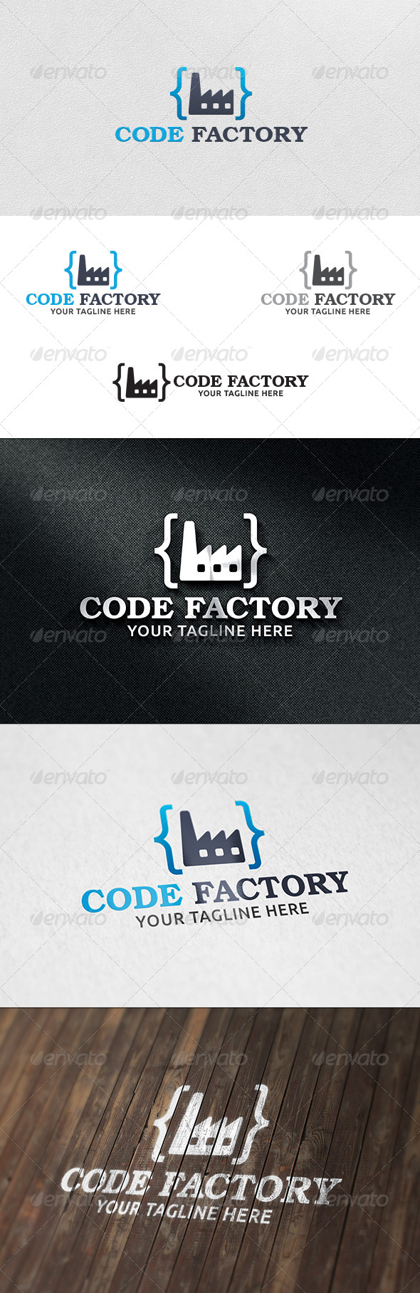 GraphicRiver Code Factory Logo Template 6085385