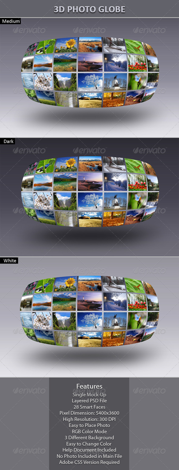 GraphicRiver 3D Photo Globe 6085525