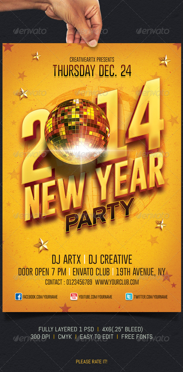 GraphicRiver New Year Party 6085882