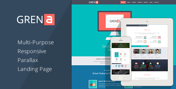 ThemeForest GRENA Multi-Purpose Parallax Landing Page 6086072