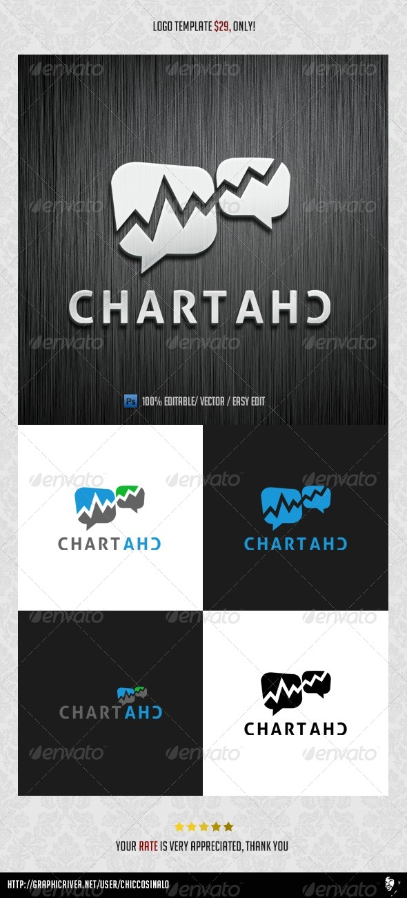 Chart Chat Logo Template - Abstract Logo Templates