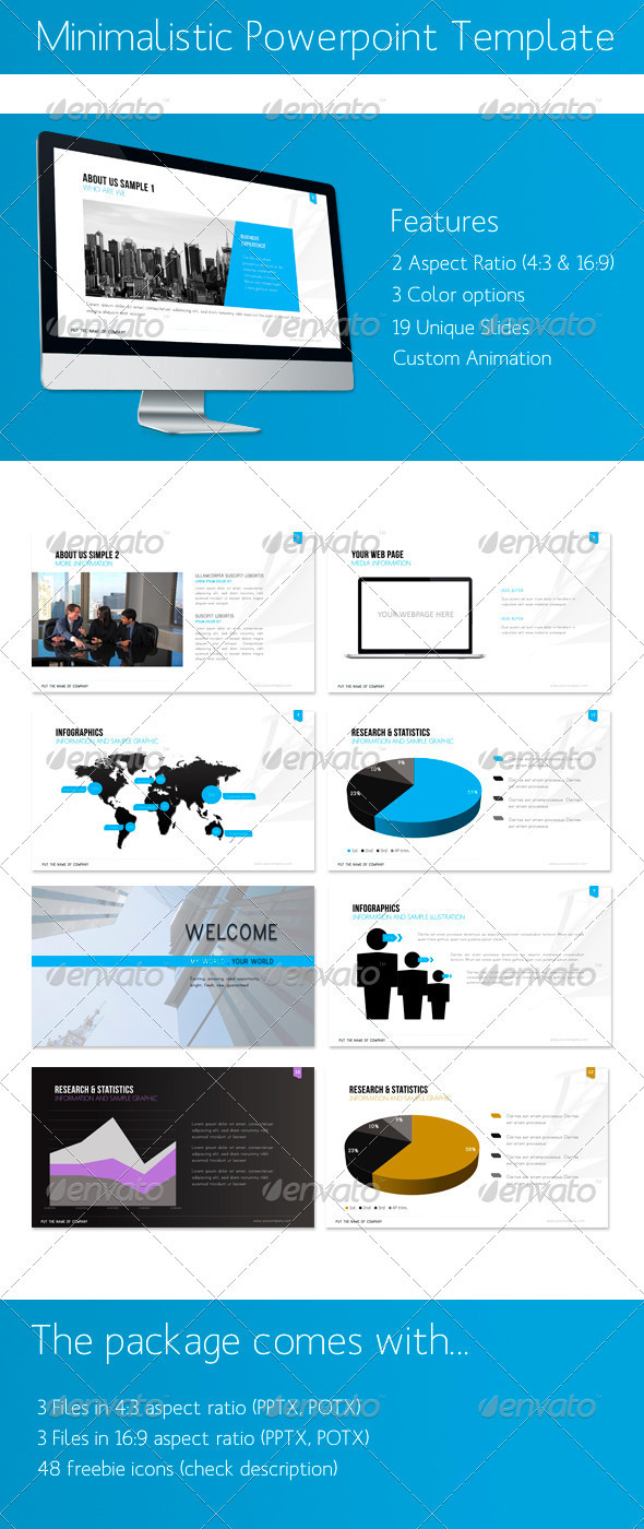 GraphicRiver Minimalistic Powerpoint Presentation 5551774