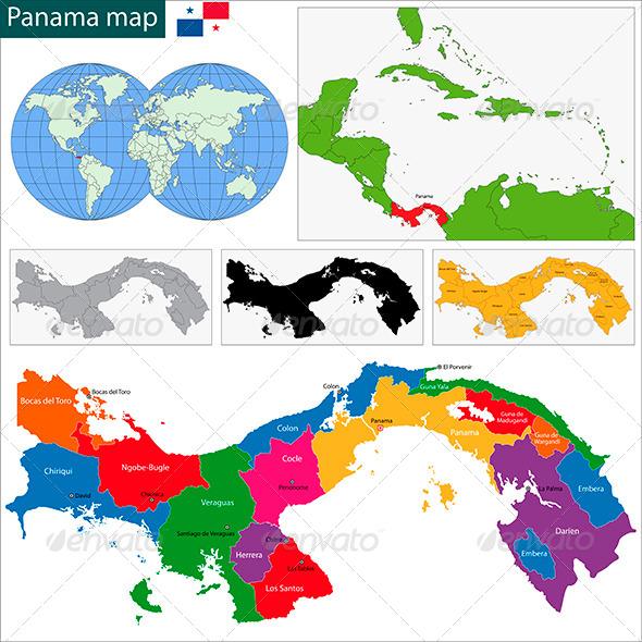GraphicRiver Panama Map 6087231