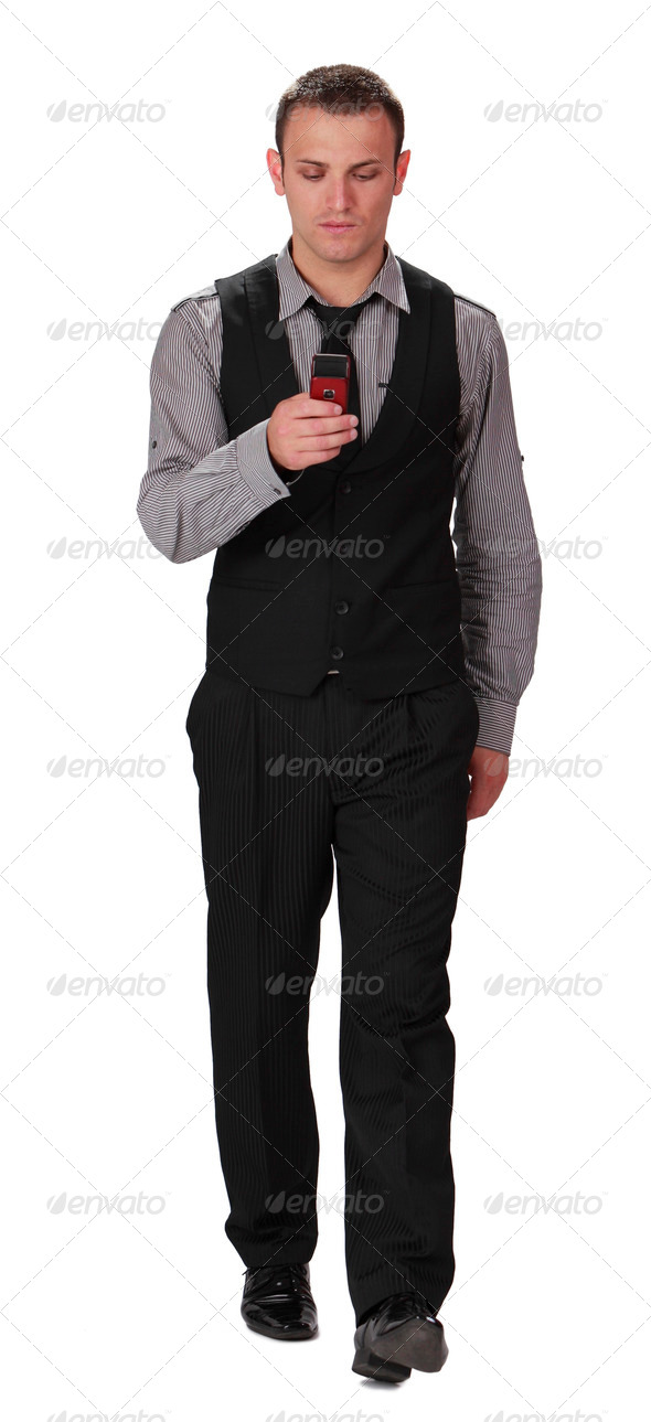 Checking the Mobile - Stock Photo - Images