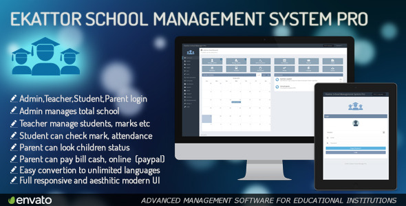CodeCanyon Ekattor School Management System Pro 6087521