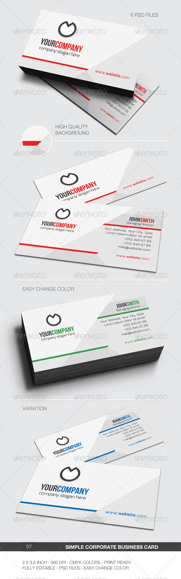 GraphicRiver Simple Corporate Business Card 07 6087566
