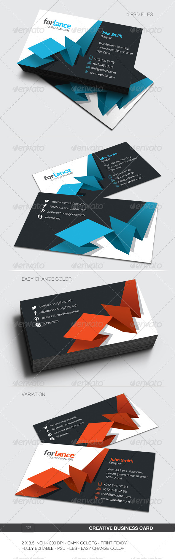 GraphicRiver Creative Business Card 12 6087581