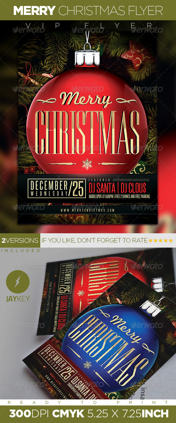 GraphicRiver Merry Christmas Party Flyer 6087630