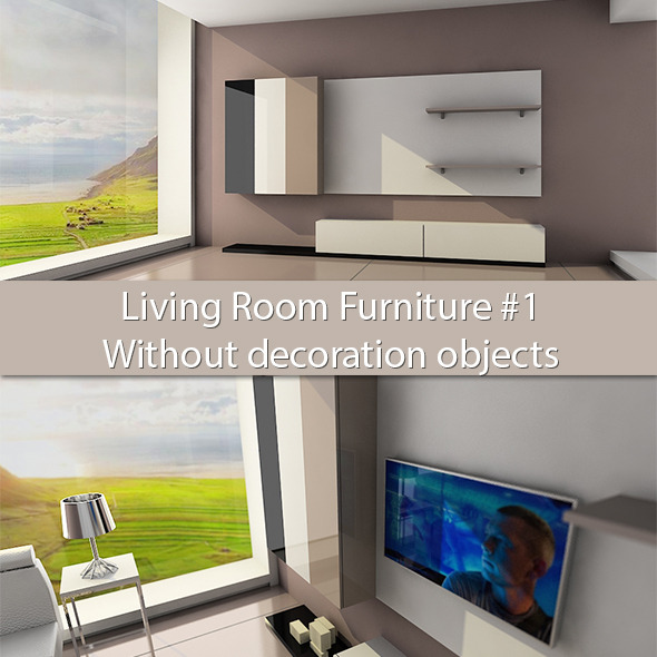 3DOcean Living Room Furniture #1 Without deco objects 6087994