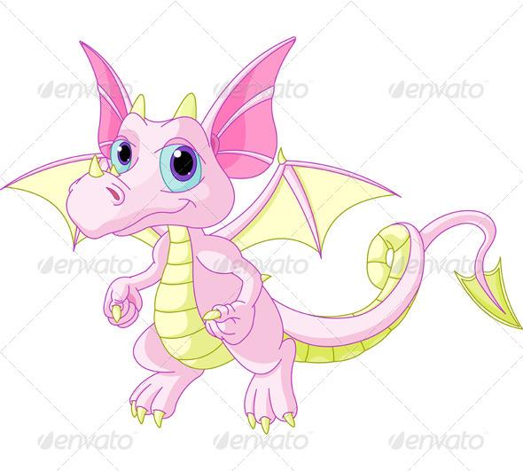 GraphicRiver Cartoon Baby Dragon 6088035