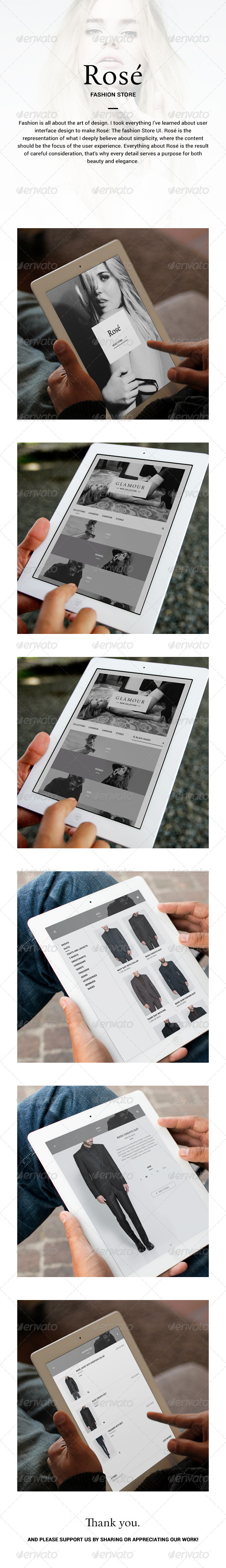 GraphicRiver Fashion Store App Rose 6088321