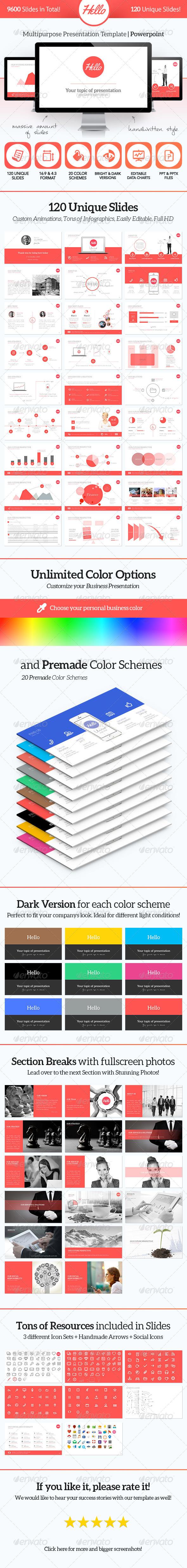GraphicRiver Hello PowerPoint Multipurpose Presentation 6088442