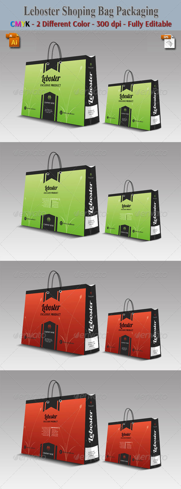 GraphicRiver Liboster Shoping Bag Packaging 5952801