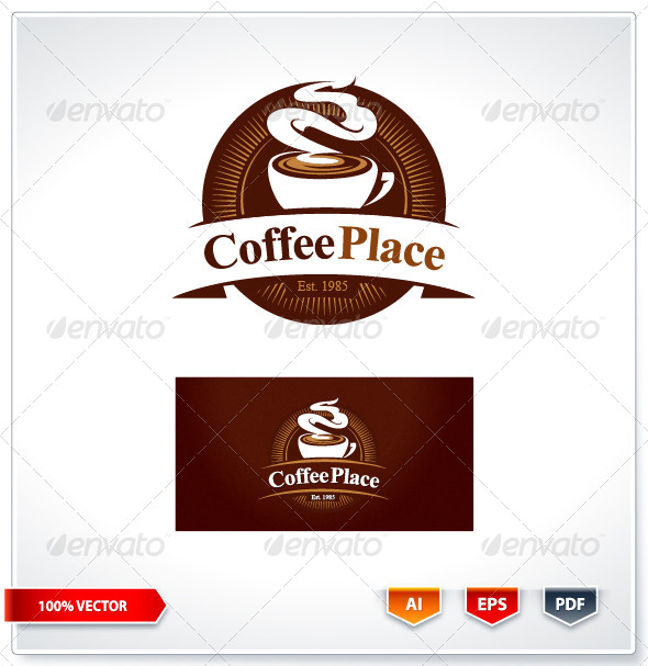GraphicRiver Coffee Place Logo Template 6088885