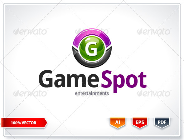 Game Spot Logo Template