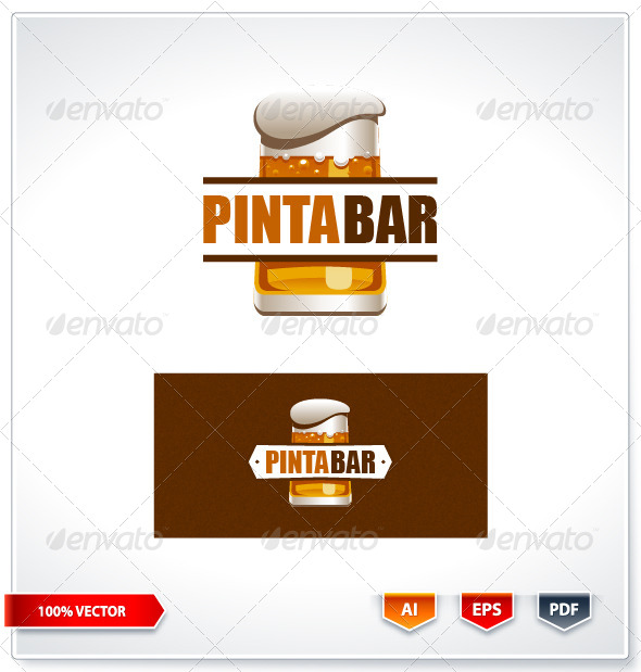 Pinta Bar Logo Template
