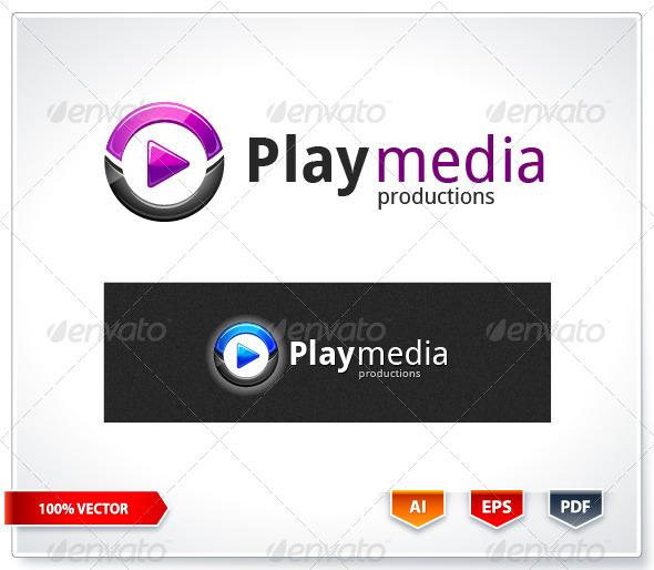 GraphicRiver Play Media Logo Template 6088932