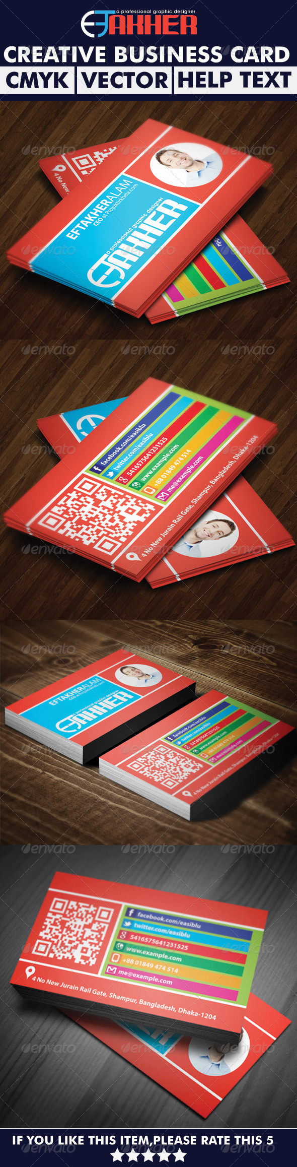 GraphicRiver Colorful Business Card 6088962