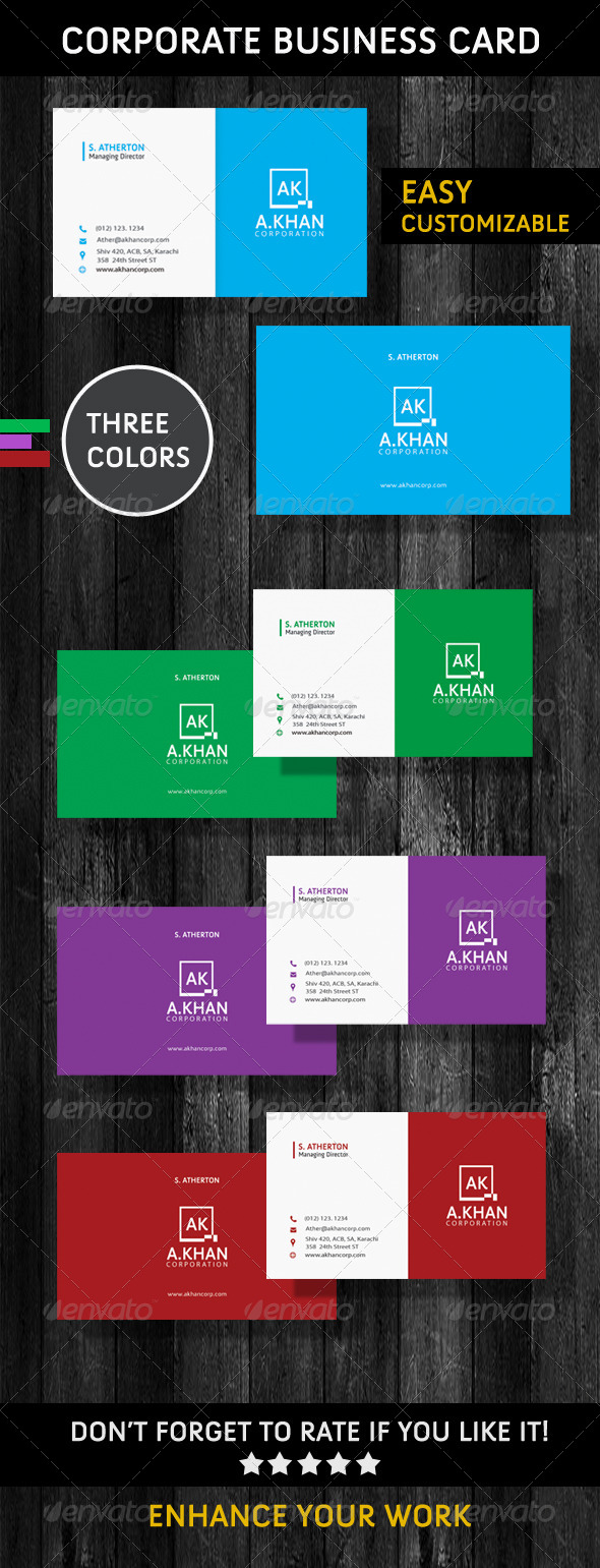 GraphicRiver Corporate Business Cards 6089289