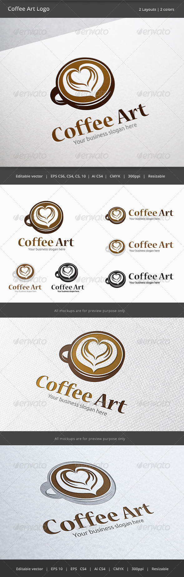 GraphicRiver Coffee Cup Art Logo 6089688