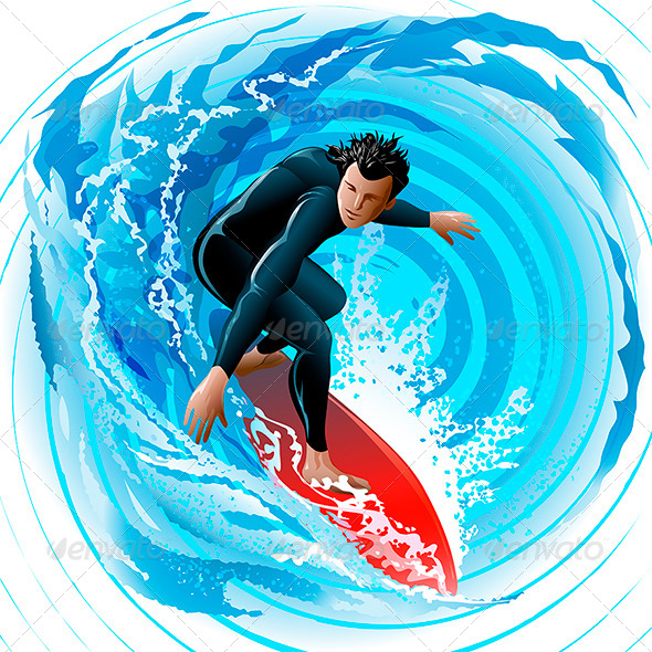 GraphicRiver The Surfer 6089995