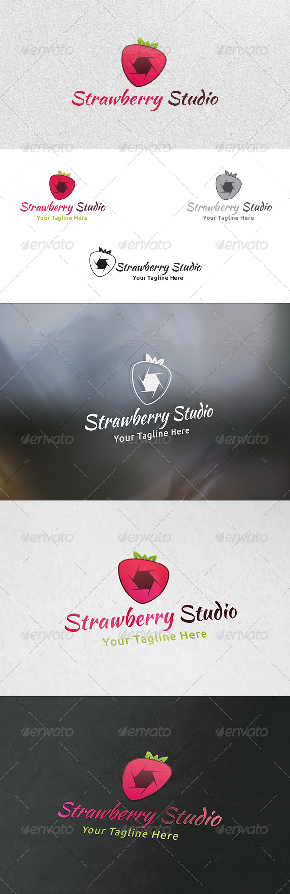 GraphicRiver Strawberry Studio Logo Template 6090019