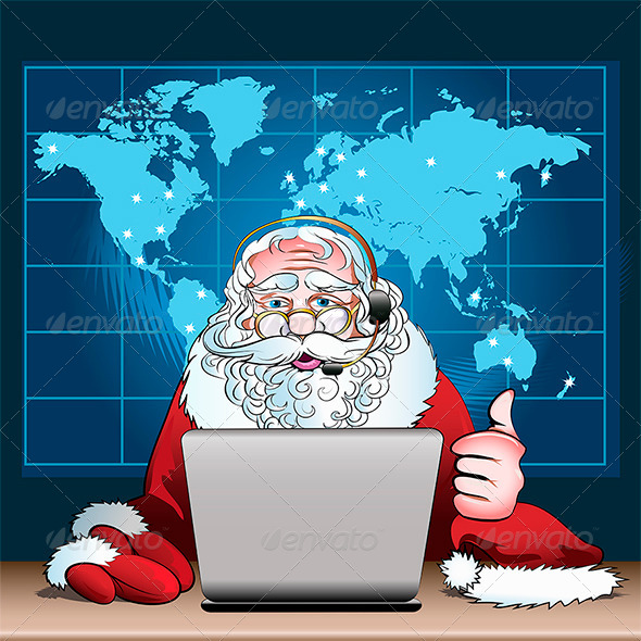GraphicRiver Santa Claus on Duty 6090093