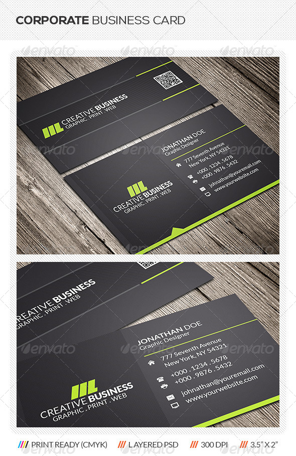 GraphicRiver Corporate Business Card 6090766