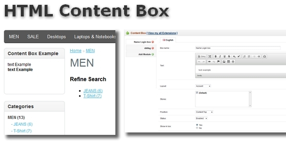 CodeCanyon HTML Content Box for OpenCart 6091176
